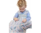 Merino Kids Schlafsack aus organischer Baumwolle für Babys, 0-2 Jahre, Maulbeere