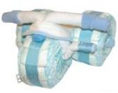 Windeltorte Junge Pampers / Windeldreirad mit Pedalen, blau - Pamperstorte - Bestes Geschenk zur Geburt und Taufe, Babyparty und Babyshower