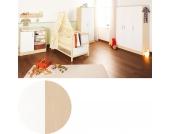 Komplett Kinderzimmer FLORIAN, 3-tlg. (Kinderbett, Wickelkommode und 3-türiger Kleiderschrank), Ahorn/Creme Gr. 70 x 140