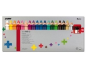 3 Plus-Buntstifte, 18 Farben & Anspitzer