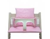 Blausberg Baby - Sitzkissen Kissen Polster Set für Stokke Tripp Trapp Hochstuhl- Einheitsgröße, Rosa Pünktchen