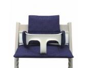 Blausberg Baby - Sitzkissen Kissen Polster Set für Stokke Tripp Trapp Hochstuhl- Einheitsgröße, Blau Pünktchen