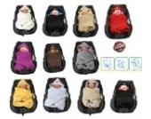 Hobea Decke für Kindersitz/Babyschale, klein, Berry Pink