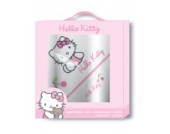 Hello Kitty 041793 Geschenkbox Coccinelle Badeponcho und Waschhandschuh/Frottee, 76 x 76 cm plus 15 x 21 cm