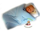 Blueberry Shop Exclusiv Schöne Top-Qualität Velours Kuscheldecke Wickeln Wickeltisch Decke Schlafsack für Neugeborene Baby Blau