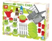 Ecoiffier 39-teiliges Puppengeschirr und Küchenzubehör [Kinderspielzeug]