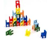 Goki Balancierspiel mit 24 Stühlen [Kinderspielzeug]