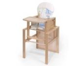 KOKO- Kombi-Hochstuhl | OSKAR | BUCHE | umbaubar zur Stuhl-Tisch Kombination | Foliensitzwahl