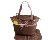2 tlg Baby Farbe Wickeltasche Pflegetasche Windeltasche Babytasche Reise Farbauswahl (braun)