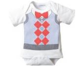 HuntGold grau Baby Sommer Dreieck Overall mit kurzen Ärmeln Onesies Kleid Conjoined Hemd(Größe: S)