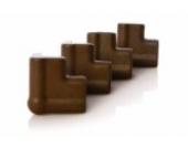 Dreambaby G813 Schaum-Eckenschutz, 4-er Pack, braun