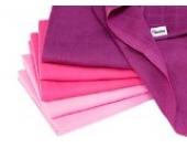 divata Mini-Mulltücher/Mullwaschlappen - 6er Set Beere 37x37 - kleine farbige Spucktücher aus 100% Baumwolle, Oeko-Tex-Zertifiziert