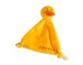 Schnuffeltuch Ente ohne Bestickung - von STEINER - Kuscheltier handgefertigt | Schmuse-Tuch für Mädchen & Jungen | Baby-Tröster Spielzeug |Geschenk-Idee Weihnachten, Ostern, Geburt, Taufe