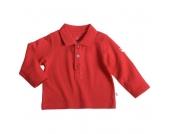 Liegelind - Langarm-Poloshirt rot, kbA - Gr. 74