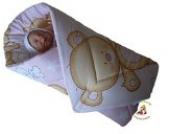 BlueberryShop SPIELMATTE Wickeldecke, Eischlagdecke, Decke, Schlafsack für Neugeborene, GESCHENK 0-4M 100% Baumwolle ( 0-3m ) ( 78 x 78 cm ) Rosa Teddybär