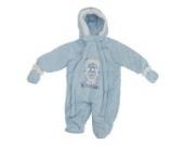 Baby Schneeanzug mit Kapuze, Teddy Bär, Smile (Neugeborene) (Blau)