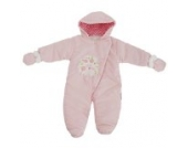 Baby Schneeanzug mit Kapuze, Baum, I Love You (6-9 Monate (68)) (Pink)