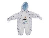 Baby Schneeanzug mit Kapuze, Dinosaurier und Vulkan (3-6 Monate (62)) (Weiß)