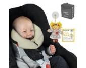 SANDINI SleepFix Baby – Baby Schlafkissen/Nackenkissen mit Stützfunktion – Kindersitz-Zubehör für Auto/Fahrrad/Reise – Kopfstütze/Sitzverkleinerung/Verhindert das Abkippen des Kopfes im Schlaf
