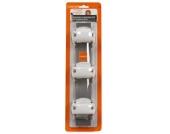 LASCAL Kiddy Guard Rohrhalterungs-Set weiß für Verschlussleiste