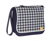 LÄSSIG Wickeltasche Basic Messenger Bag Daisy Navy