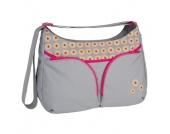 LÄSSIG Wickeltasche Basic Shoulder Bag Daisy mid grey - grau