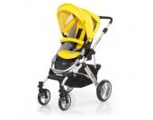 ABC Design Kombikinderwagen Mamba citro Gestell silver / graphite - gelb