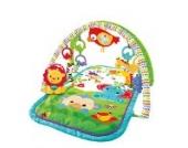 Fisher-Price CHP85 Rainforest-Freunde 3-in-1 Spieldecke tragbare Krabbeldecke inkl., ab nehmbaren Spielzeugen Babyerstausstattung, ab 0 Monaten