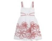 Rare Editions Mädchen Sommer Kleid weiß rot (110)