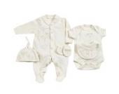 Natures Purest Bio Baby Set Frühchen Kleidung 44 50 Body Mütze Schlafanzug Lätzchen Fäustel