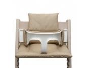 Blausberg Baby - Sitzkissen *41 FARBEN* Kissen Polster Set für Stokke Tripp Trapp Hochstuhl (Beige Pünktchen) alle Materialien OEKO-TEX ® Standard 100 zertifiziert - 100% made in Hamburg