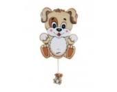 Wandspieluhr Hund aus stabilem Sperrholz handbemalt 11,5x14,5x4,5 cm