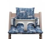 Blausberg Baby - Sitzkissen *41 FARBEN* Kissen Polster Set für Stokke Tripp Trapp Hochstuhl (Reh Winter) alle Materialien OEKO-TEX ® Standard 100 zertifiziert - 100% made in Hamburg
