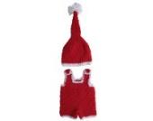 Bigood 1 Paar Baby Tier Muster Baby Unisex Strick Kleider Foto-Shooting 0-6 Monate Weihnachten Stil Rot Y