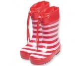 Playshoes Girls Gummistiefel streifen rot/rosa - Mädchen