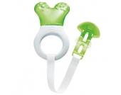 MAM Kühlbeißring Mini Cooler & Clip gelb / weiß - grün