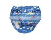 iplay Schwimmwindel Badehose UV-Schutz 50+ 6 Monate Pier Fische Boot Junge Boy