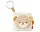 Fehn 160895 Soft-Bilderbuch Teddy / Fühlbuch aus Stoff mit Tier Motiven - mit Quietsche, Raschelpapier und Spiegel für Babys und Kleinkinder ab 0+ Monaten / Maße: 11x11 cm