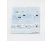 Babybett-Deckenbezug Kinderbett-Deckenbezug Deckenbezug ca. 150x120 für Babybett (Muster: Hund mit Knochen_puderblau)