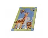 Kinderteppich Dschungel Tiere Gr. 150 x 220