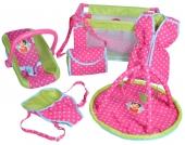 Knorrtoys Heidi 9-teiliges Puppenzubehör Set (Pink-Grün) [Kinderspielzeug]