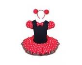 Jastore® Mädchen Kinder Kostüm Halloween Weihnachten Ballettkleid Party Hochzeit Tutu Kleid +Ohren (L/4-5 Jahre)