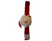 BABYS ERSTES WEIHNACHTEN - Ringrassel Handgelenk-Rassel zur Förderung der Feinmotorik mit Weihnachtsmann - Weihnachts-Bär - Elch Farbe Handrassel Bär