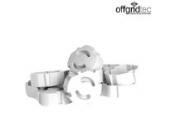 Offgridtec 007310 Kindersicherung für Steckdose , steckbar Steckdosensicherung, 12 Stück, weiß
