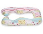 Kissenbezug für Schwangerschafts,- Seitenschläferkissen von castilba mit Öko-Tex Standart 100 von (Baumwolle patchwork bunt)