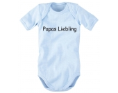 wellyou bedruckter Body Papas Liebling Kurzarm, blau