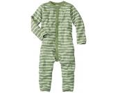 wellyou Schlafanzug 1/1-Arm grün-weiß, einteilig