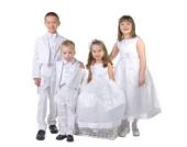 Nr. 302.1 Kommunionkleid Blumenkindkleid Taufkleid Festkleid 10-12 Jahre WEISS