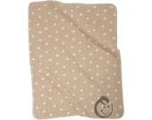 Alvi Baumwoll Baby Decke Punkte beige 75 x 100 cm 9317457006