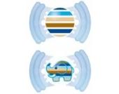 MAM 302411 - Soft Latex 16+, Schnuller, für Jungen, Doppelpack, farblich sortiert - BPA frei